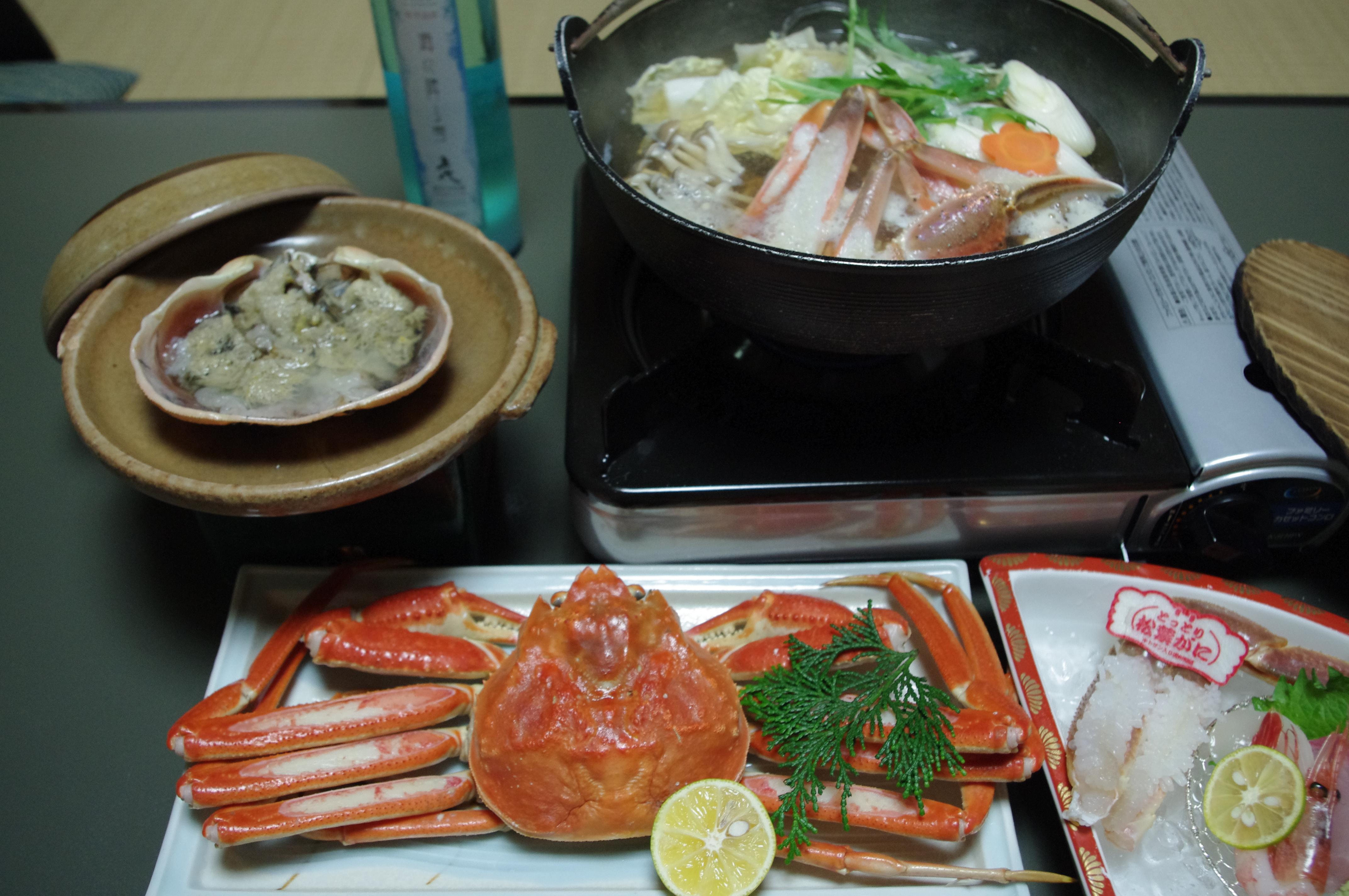 松葉ガニ 夕食.JPG